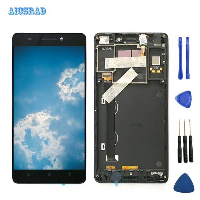 AICSRAD Originale 5.5 A CRISTALLI LIQUIDI Per Lenovo K3 Nota Display con Cornice K50 T5 di Tocco Digitale Dello Schermo per Lenovo K3 Nota display LCD