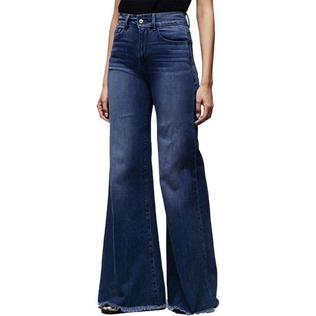2020 High Waist Wide Leg Jeans Brand Women Boyfriend Jeans Denim Skinny Woman's Vintage Flare Jeans Plus Size 4XL Pant 2