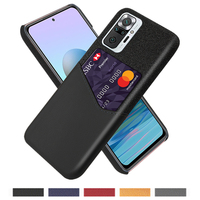 Card Slots Cover Business Funda For Xiaomi Xiomi Redmi Note 10 10S 9 9S 8 Pro 8T 9C 9A 8A Mi Poco X3 NFC F3 11 11i F1 M3 Case