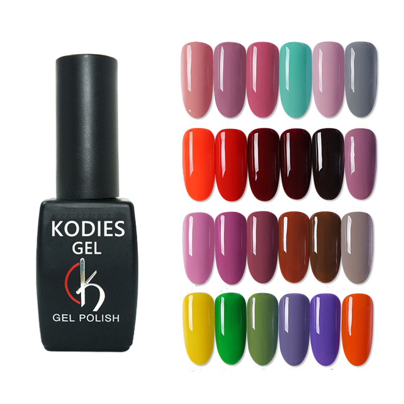 KODIES Professional UV Gel Nail Polish Set Soak Off Nails Gel UV Colors Manciure 8ML Primer Base Top Gel Varnish for Nail Art image