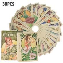 38 Uds flores Oracle cartas del Tarot resistente vivo inglés versión PDF fiesta familiar juego de mesa tarjetas regalos para las flores de Oracle