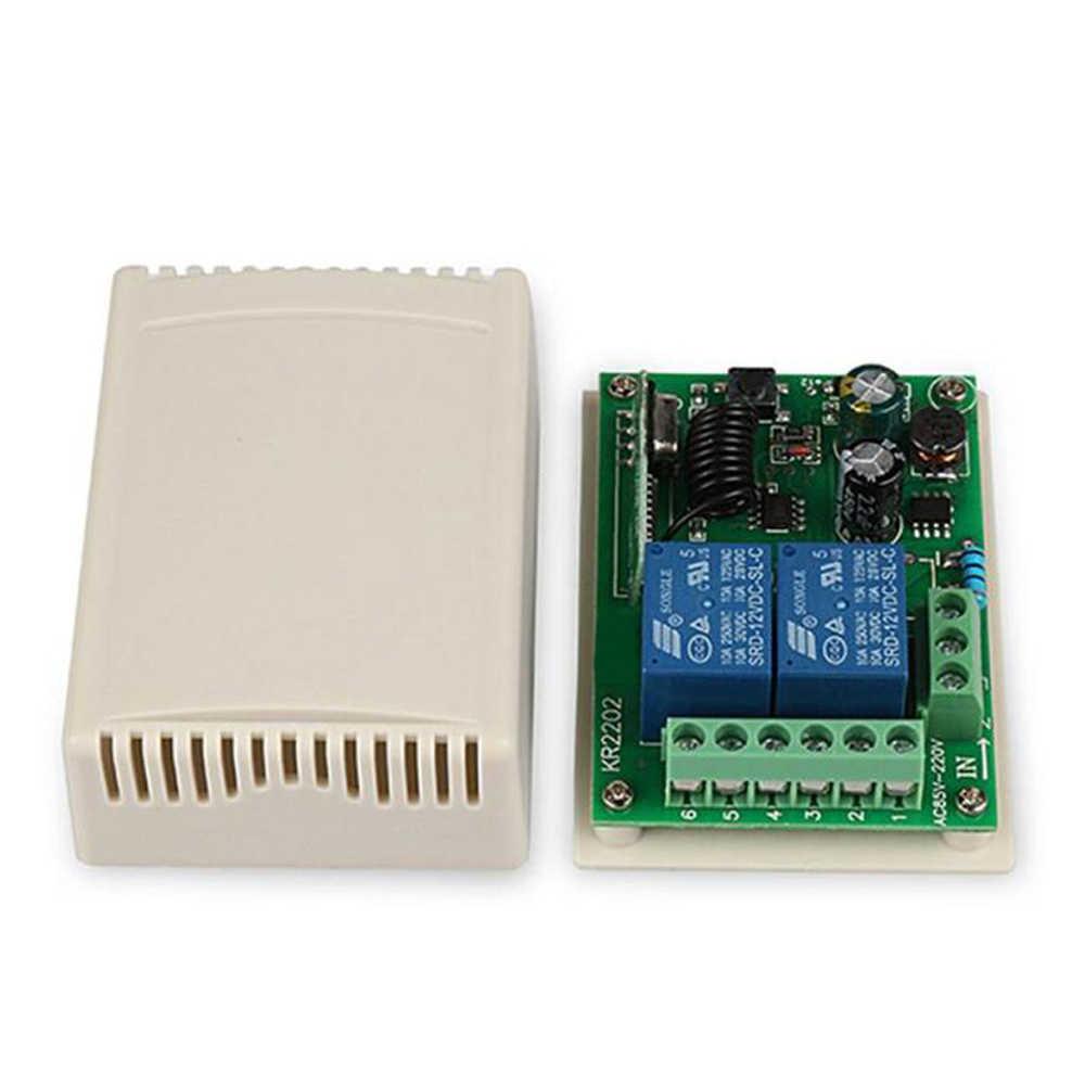 Rubrum 433 MHz AC 110V 220V 2CHรีโมทคอนโทรลRF Controller + RFรีเลย์สำหรับไฟโรงรถประตู