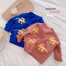 Cardigan Kids Jackets Sweater Overwear Dino Coats Children Clothes Baby-Girls-Boys Autumn