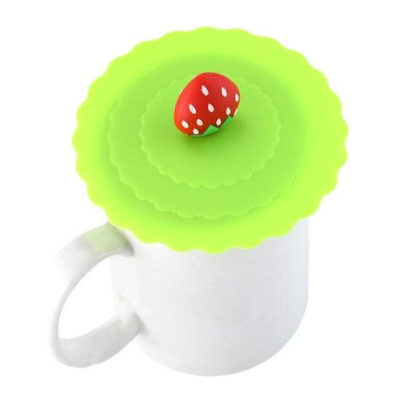 Милый силиконовый чехол для чаши с защитой от пыли, фрукты, украшение для питьевой воды, крышка для чашки, уплотнения, стеклянные кружки