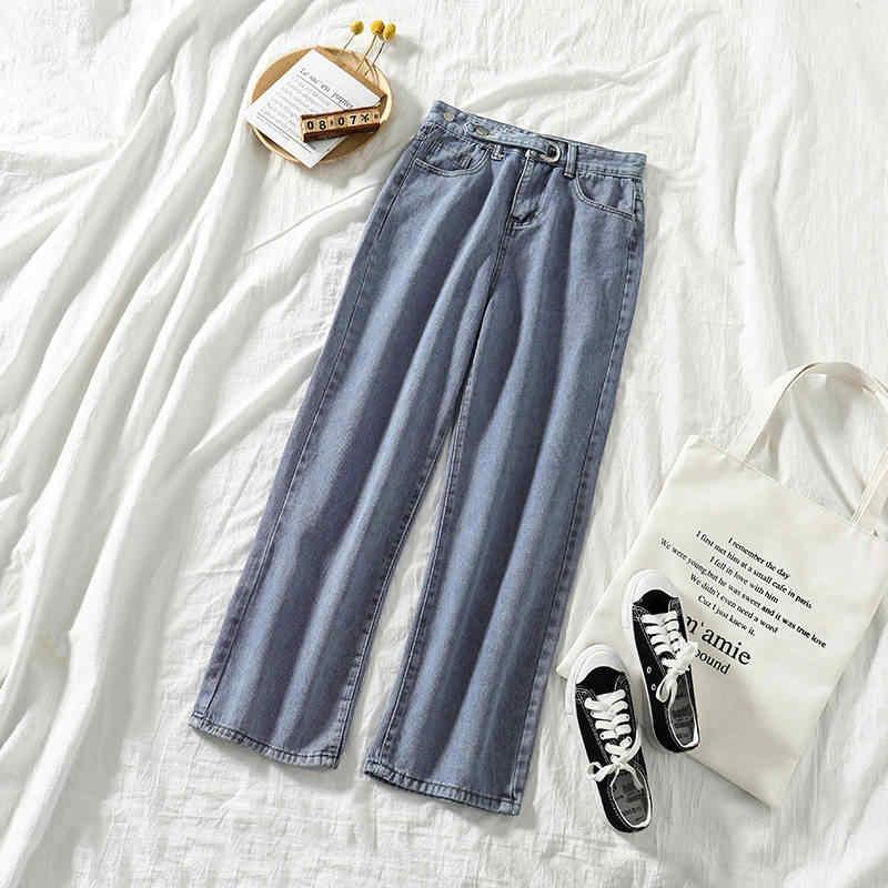 2 Bộ Quần Áo Nữ Ins 2019 Thu Đông Hàn Quốc Mới Ngắn Chiều Dài Áo Len Dài Tay + Rộng chân Váy Jeans Thời Trang