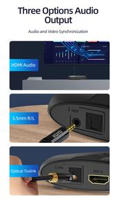 Image 5 - Unnlink HDMI Matrix 4x2 UHD 4K 4 In 2 out Audio Extractor HIFI 5.1 SPDIF Toslink 3.5 Jack Switch Splitter for ps4 pc led tv box