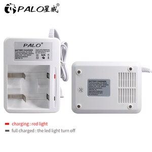 Image 2 - Умное зарядное устройство PALO со светодиодным дисплеем для аккумуляторных батарей 1,2 в Ni CD Ni mh AA/AAA/C/D