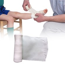 Vendaje elástico de primeros auxilios para acampada, vendaje de primeros auxilios de 10cm x 4,5 m, rollo de gasa para tratamiento de heridas, cuidado de emergencia, seguro e inofensivo
