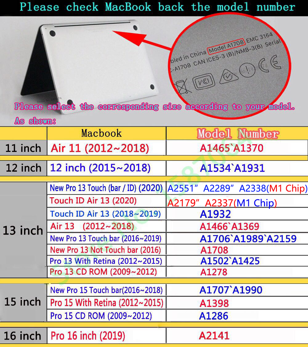 New CrystalMatte Case For Apple Macbook Air Pro Retina M1 Chip 11 12 13 15 16 inch ,Case For 2020 Pro13 A2338 A2289 A2179+gift 6