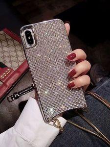 Image 2 - Custodia a tracolla con diamanti scintillanti scintillanti di lusso per iPhone 12 11 PRO XS MAX XR 8 plus Samsung S10 plus con catena lunga