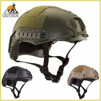 Высококачественный защитный шлем для пейнтбола и военных игр, армейский шлем для страйкбола MH, Тактический Быстрый Шлем с защитными очками,...