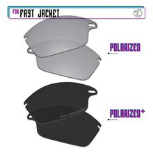 Replacement Lenses Fast-Jacket For-Oakley Sunglasses-Blackp Plus-Silver-P Polarized