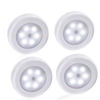 4 Uds 6 LED del Sensor de movimiento PIR noche inducción led lámpara dormitorio armario corredor de las escaleras de la cocina pasillo Toile Luz