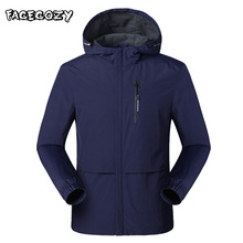 Facecozy Men Winter Waterproof Jacket Outdoor Softshell Hiking for Camping Climbing Trekking Fishing Skiing Windbreaker