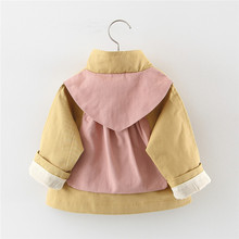 Dziewczynek płaszcz zimowa wiosna dziewczynek księżniczka płaszcz kurtka z kapturem codzienna odzież wierzchnia dla dziewczynek odzież dla niemowląt tanie tanio Bnwige Unisex Pasuje prawda na wymiar weź swój normalny rozmiar COTTON Wykop List Moda Pełna Skręcić w dół kołnierz