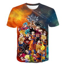 New dragon ball 3d printed Children's t shirt for men and women, round neck and short sleeve t-shirts, summer t-shirts, brand t- navy basic knit round neck t shirts