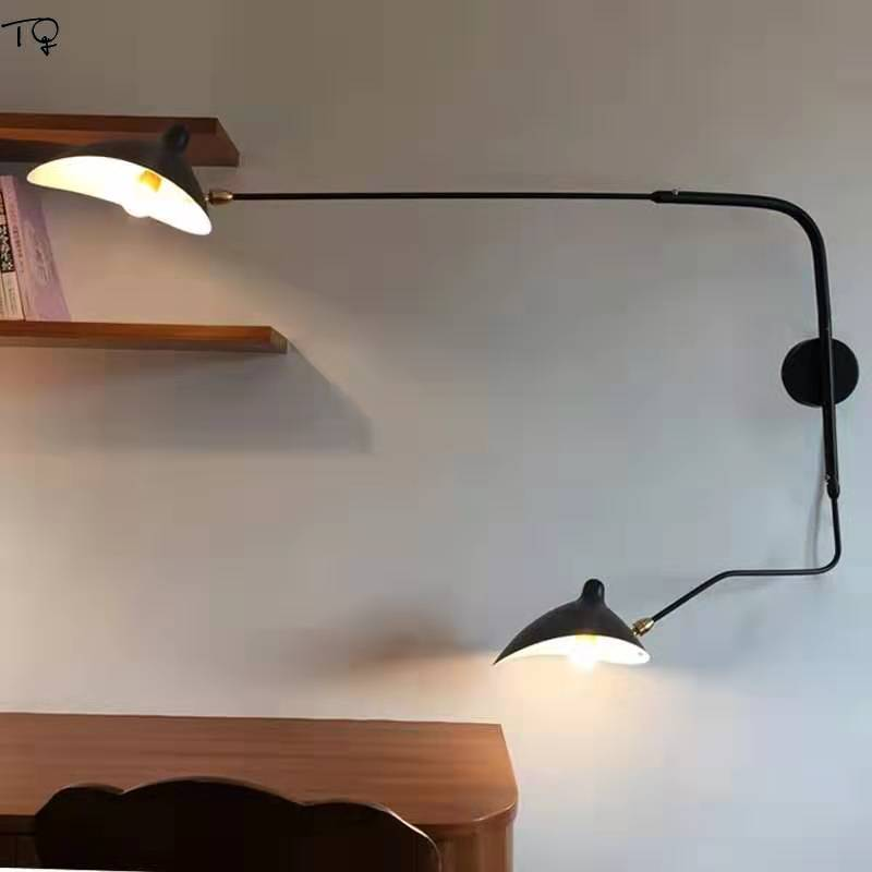 Nordic DaWn Spider Serge Mouille Wall Lamps Industrial Designer Swing Arm Led Indoor Light Fixtures Studio Cafe Study Luminaire