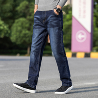 Classic Relaxed Fit Men Jeans Jean Homme Blue Denim Spijkerbroeken Heren Pants Trousers Biker Stretch Distressed Fashions Slim