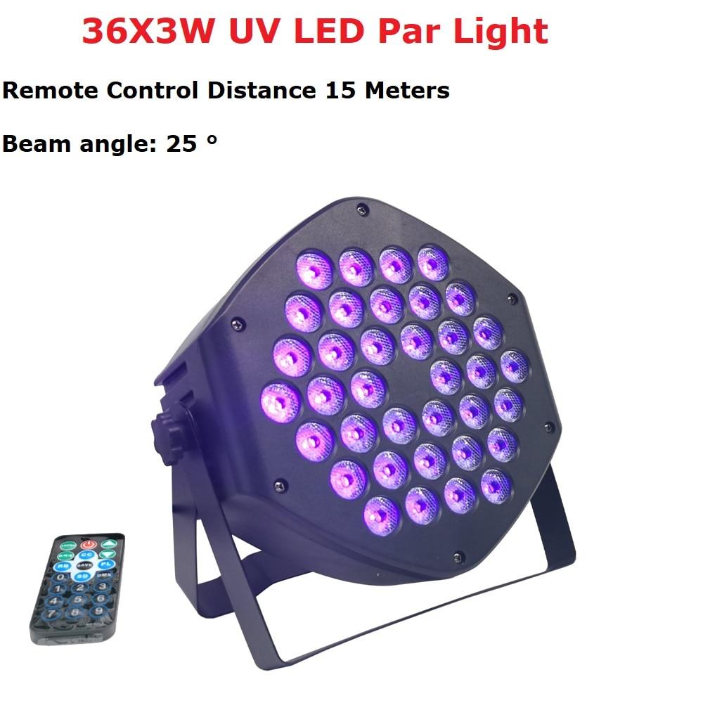 LED Flat Par 36X3W  Violet Color Lighting UV With DMX512 For Disco DJ Projector Machine Party Christmas Decoration Purple Pro Dj