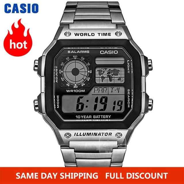 Zegarek Casio Zegarek eksplozji mężczyźni top luksusowa marka LED wojskowy zegarek cyfrowy sport Wodoodporny zegarek kwarcowy męski zegarek relogio masculino reloj hombre erkek kol saati montre homme часы AE 1200WHD