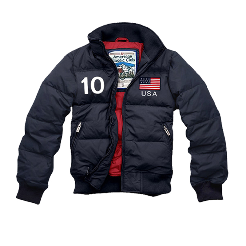 Men's Down Jacket Winter Plus Size Embroidered Us Flag Jas Ropa Abrigo Casaco Monclair Monclair Afs Hollistic Men Jacket Coat