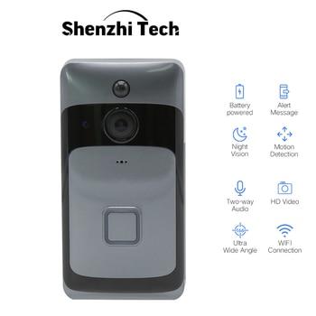 цена на Smart WiFi doorbell Wireless Camera Doorbell Two-way Audio Infrared Remote Control Home Security Monitoring Video Doorbell