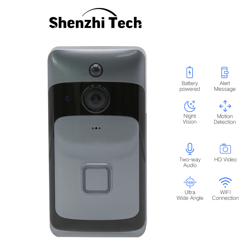 Smart WiFi <font><b>doorbell</b></font> Wireless Camera <font><b>Doorbell</b></font> Two-way Audio Infrared <font><b>Remote</b></font> Control Home Security Monitoring Video <font><b>Doorbell</b></font> image