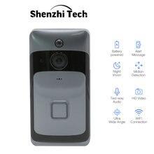 Умный беспроводной дверной звонок с wi fi и камерой двухстороннее