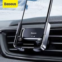 Baseus Thông Minh Electic Ô Tô Cho iPhone X Xs Xr Không Khí Thông Hơi Giữ Điện Thoại Với Tự Động Khóa Cho xiaomi HUAWEI Samsung