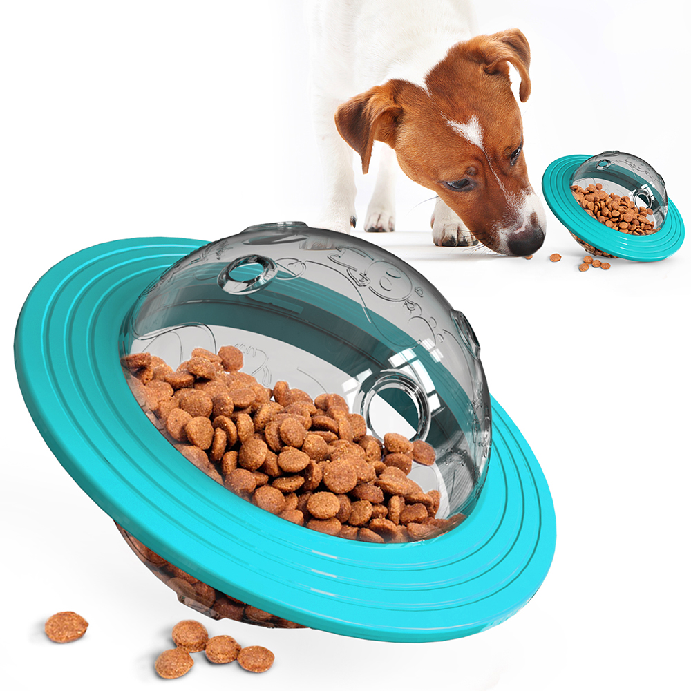 Dog Cat Chew Ball Toy Pet IQ Training Leaking Food Feeding Flying Discs for Dogs Durable Funny Indoor Outdoor Playing Toys image
