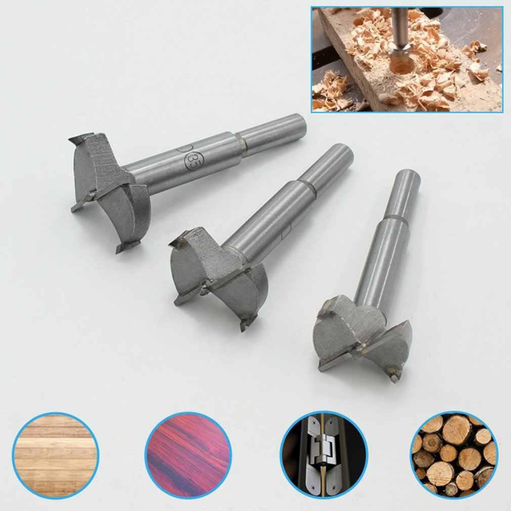 Abridor de agujeros para carpintería perforador de mano brocas escariadoras de madera bisagra de aleación de plástico tablero de yeso perforador de agujeros de madera