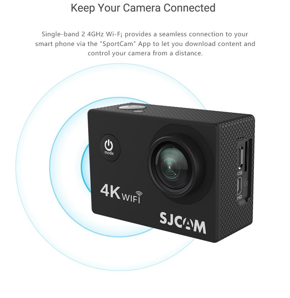"SJCAM SJ4000 Cámara de Acción Full HD 4K 30FPS WIFI 2,0 ""Pantalla Mini casco impermeable deportes DV Cámara 10"