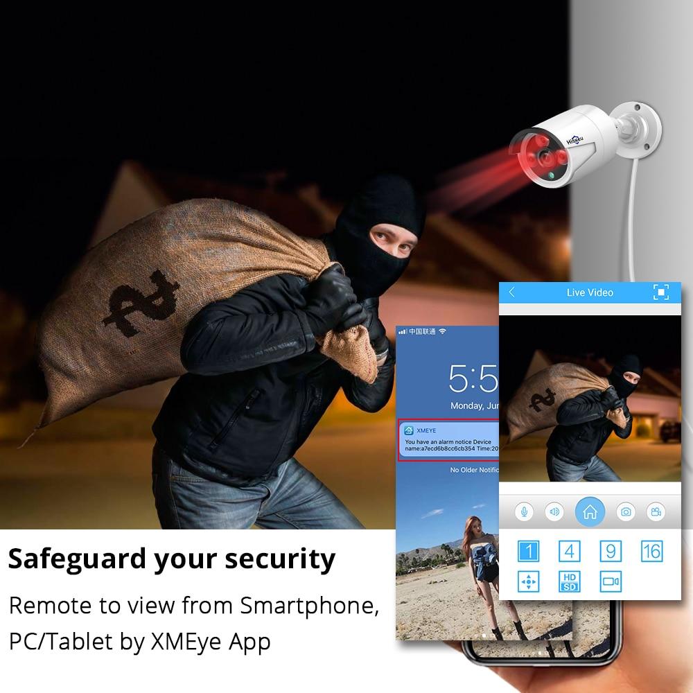 Хисееу 4пцс / лот 4МП ПОЕ ИП камера - Безбедност и заштита - Фотографија 4