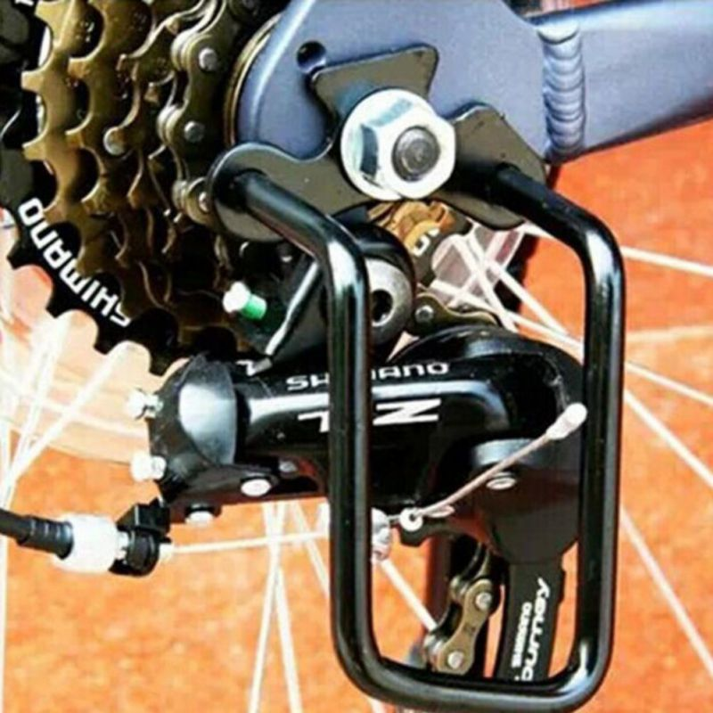 Mountain Bike Rear Derailleur Defender Protection Pull Rack Bracket Protector Bicycle Accessories