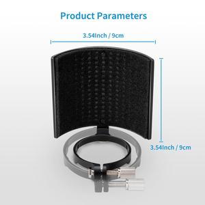 Image 5 - Moukey 3 Layer Microphone Pop Filter Shield Metal Mic Windscreen U Shape Recording Studio Mic Screen Mask for Diameter 46 70mm