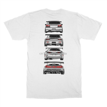 2019 moda gran oferta leyenda clásica japonesa coche 90 JDM R34 DISEÑO DE GTR Skyline RX7 NSX 350Z S2000 camiseta