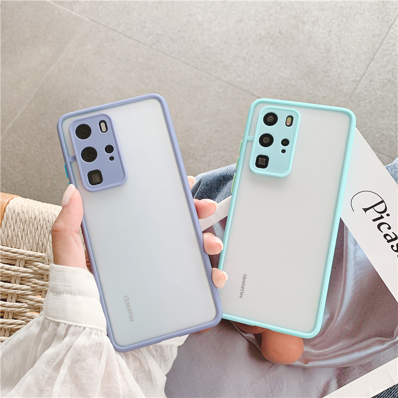 Shockproof  Phone Case Back Cover For Huawei P40 Pro Luxury Translucent Soft Case For Huawei P40 P30 Pro Mate 30 20 Pro Case (6)