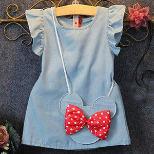 Girl Dress 2018 New Baby Dresses Pattern Print Lemon Cartoon Birthday Dress Female Baby Summer Clothes Kids Girl Clothes(China)