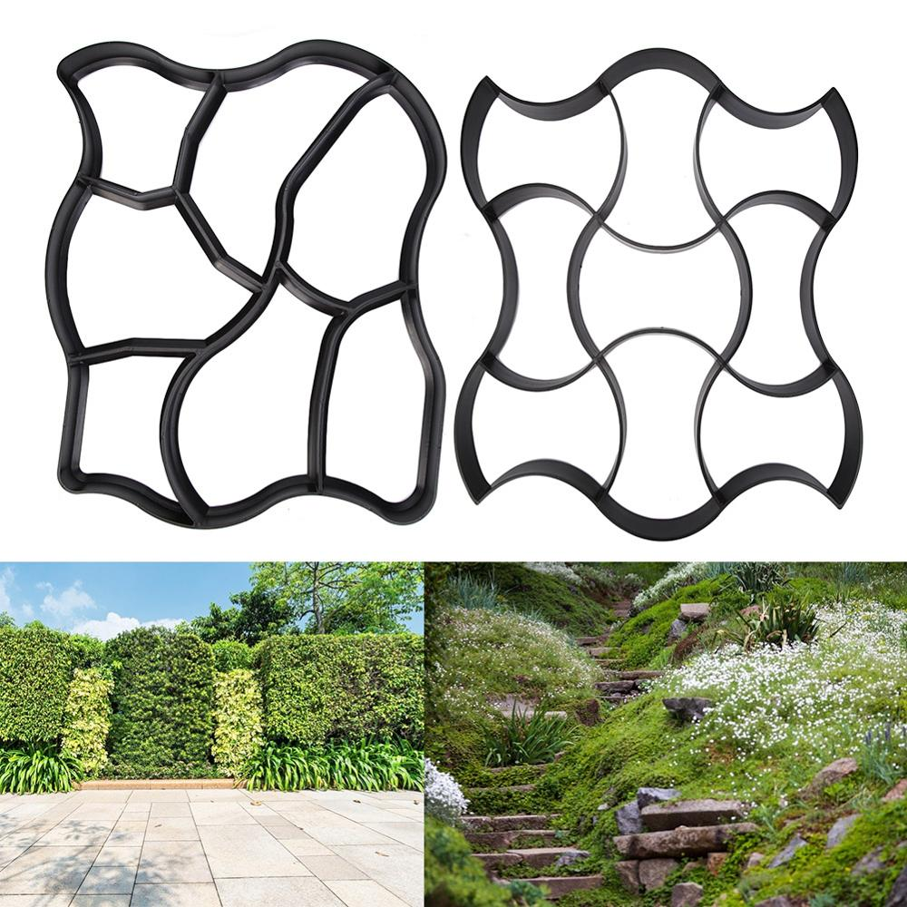DIY Paving Cement Mould Courtyard Park Road Pavement Mold Path Maker Household Garden Supplies