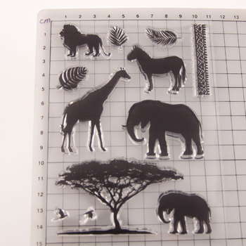 Clear Stamps Sets African Steppe Animals Squirrel Cutting Dies Rubber Stamp Transparent Silicone Party card making 2020 Craft - discount item  13% OFF Arts,Crafts & Sewing