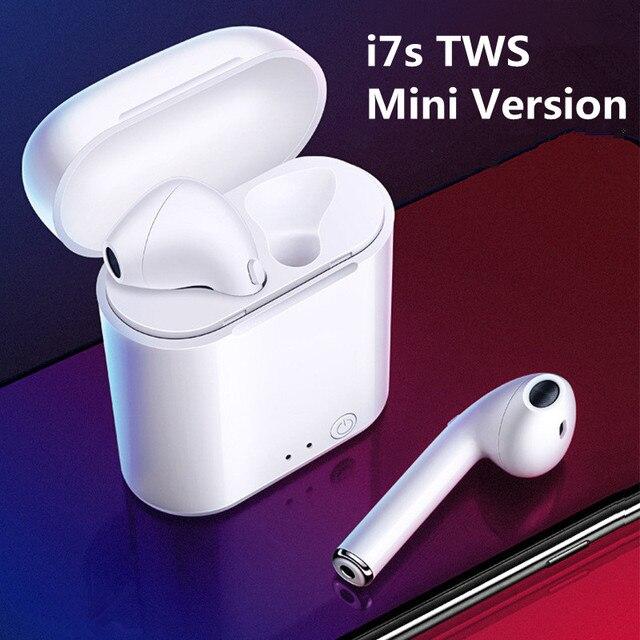 I7s Mini TWS Bluetooth kulaklık spor kablosuz kulaklık kulaklık Stereo mikrofonlu kulaklık şarj kutusu PK i9s Tws tüm telefon için