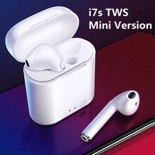 I7s Mini TWS Bluetooth наушники; Спортивные Беспроводные наушники; Гарнитура; Стереонаушники с микрофоном; Зарядная коробка; PK i9s Tws для всех телефонов