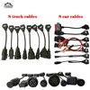 Voor Wow Snooper Volledige Set 8 Truck Kabels 8 Auto Kabels OBD2 Diagnostic Tool Obdii Obd 2 Sluit Kabel Interface scanner