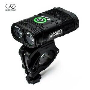 WOSAWE велосипедный светильник 1800 лм, велосипедный головной светильник светодиодный задний фонарь USB Перезаряжаемый флэш-светильник MTB дорожн...