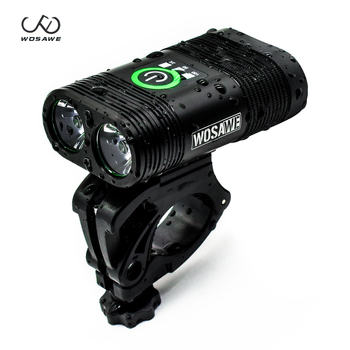 WOSAWE Bicycle Light 1800 lumens Bike Headlight LED Taillight USB Rechargeable Flashlight MTB Road Bike Cycling Lantern Lamp led flashlight usb bike light lantern bicycle lights front headlight with battery lamp cycling mtb torches bike accessories