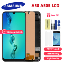 New For Samsung Galaxy A50 SM-A505FN/DS A505F/DS A505 LCD Display Touch Screen Digitizer Assembly For Samsung A50 LCD