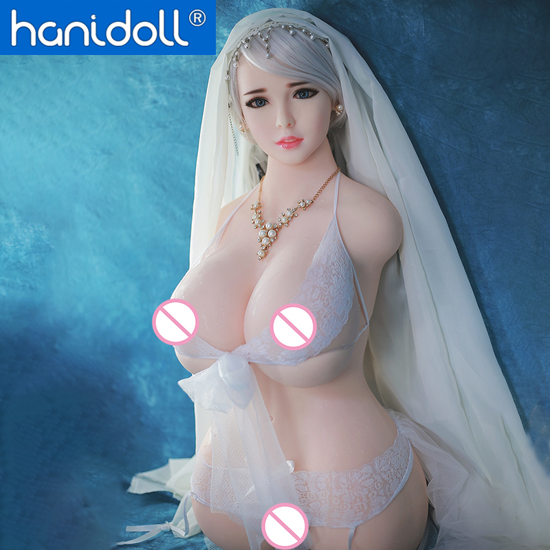Hanidoll Bambole Del Sesso Del Silicone Metà Del Corpo Grande Grande Seno 86 centimetri Realistico Della Vagina Anale Bambola di Amore Del Sesso per Adulti di Sesso Maschile giocattoli Reale Della Bambola