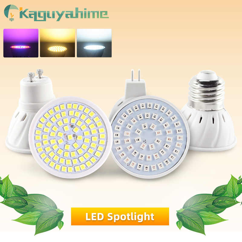 Kaguyahime LED Spotlight E27 Gu10 Mr16 Grow LIGHT LED หลอดไฟ DC 12V AC 220V 3W 4W Lampada Full Spectrum Growth/อบอุ่น/เย็น