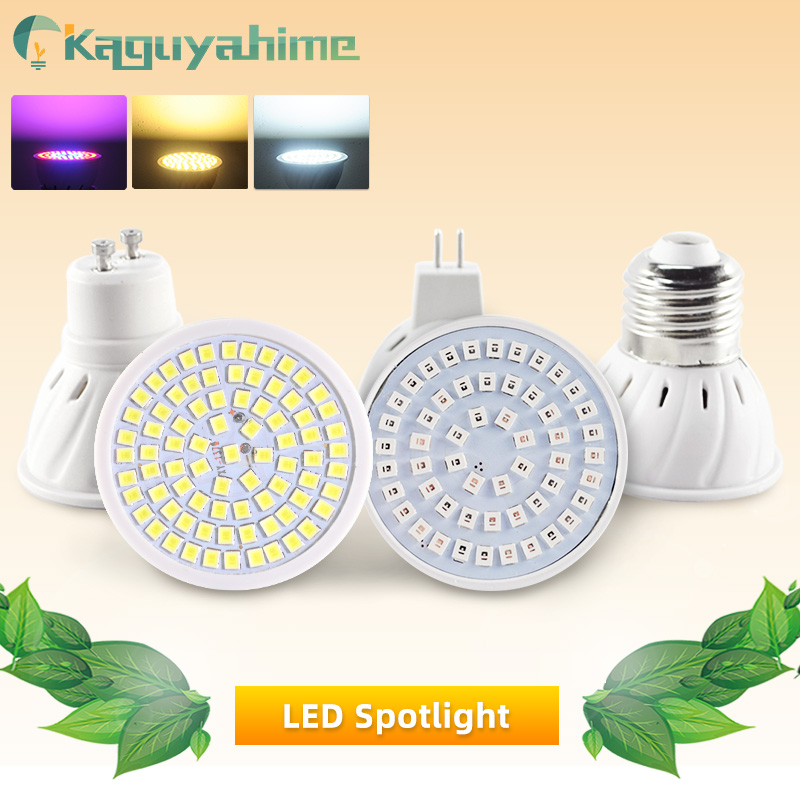 Kaguyahime LED Spotlight E27 Gu10 Mr16 Grow Light LED Spot Lamp Bulb DC 12V AC 220V 3W 4W Lampada Full Spectrum Growth/Warm/Cold