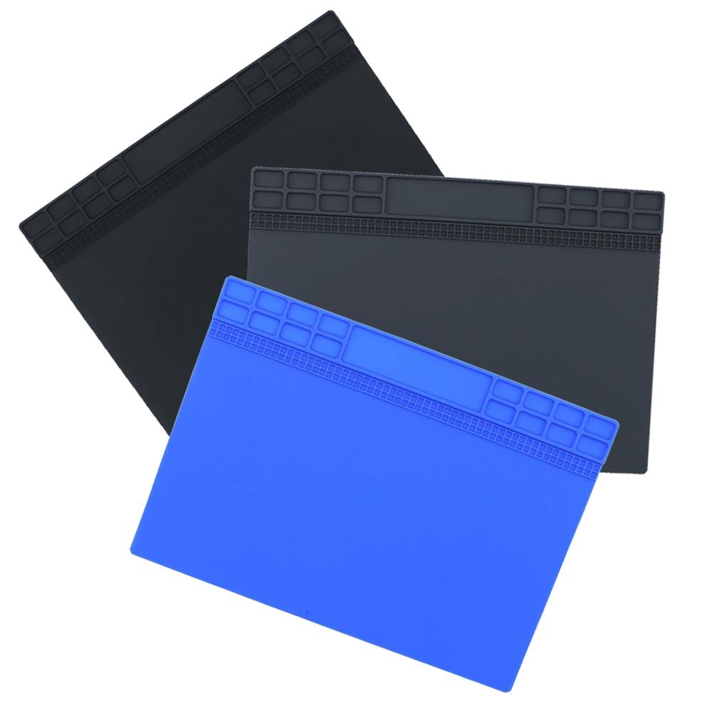 Heat Insulation Silicone Pad Desk Mat Maintenance Platform For BGA Soldering Repair Station Repair Tools Gray/Black/Darkblue
